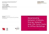 Relationship between U-Values, Energy Demand and Life Cycle Costs in Office Buildings